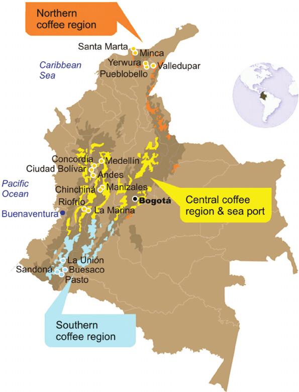 colombian coffee regions
