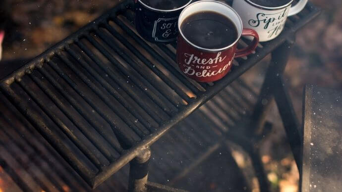 make coffee while camping