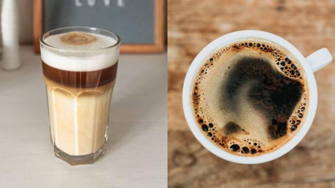 americano vs latte, latte vs americano